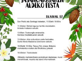 Bidezko Merkataritza eta Kontsumo Jasangarriaren aldeko festa Hondarribian – Fiesta del Comercio Justo y el Consumo responsable en Hondarribia