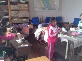 Taller de costura en el HIC de San Pedro de Buena Vista