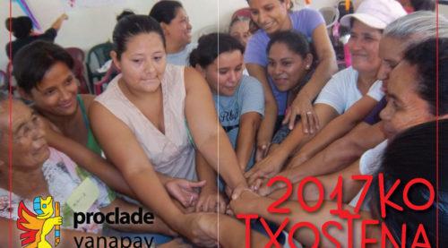 Memoria, Txostena, Proclade Yanapay, 2017